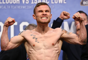 Power game: Carl Frampton flexes his muscles ahead of the scrap with Scott Quigg