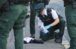 ARV officers deal with a stabbing incident on the Antrim Road in Belfast on August 4th 2017 (Photo by Kevin Scott / Belfast Telegraph)