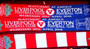 Merchandise on sale during the Barclays Premier League match between Liverpool and Everton at Anfield, April 20, 2016, Liverpool, England  (Photo by Clive Brunskill/Getty Images)