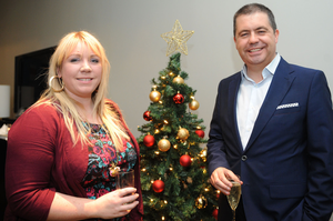 Samantha Livingstone and Glyn Roberts at the Fitzwilliam Hotel in Belfast for the 2013 CIPR Christmas Social