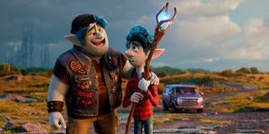 Life lessons: Barley Lightfoot (voiced by Chris Pratt) and Ian Lightfoot (Tom Holland) in Onward