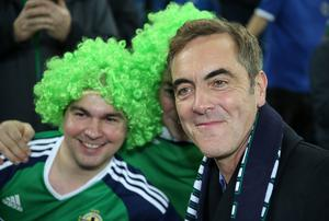 Press Eye - Belfast - Northern Ireland - 8th October 2016 -Picture by Brian Little/PressEye  Actor Jimmy Nesbitt attending The National Football Stadium at Windsor Park Opening Game and Ceremony before Northern Ireland vs San Marino 2018 FIFA World Cup Qualifier Photo by Brian Little/ Press Eye