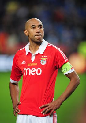 AMSTERDAM, NETHERLANDS - MAY 15: A dejected Luisao of Benfica looks on during the UEFA Europa League Final between SL Benfica and Chelsea FC at Amsterdam Arena on May 15, 2013 in Amsterdam, Netherlands.  (Photo by Jamie McDonald/Getty Images)