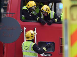 Emergency services were called to the incident just before 7am (Lauren Hurley/PA Wire)