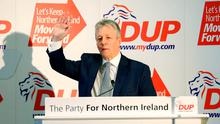 Peter Robinson during the DUP spring conference at the Hilton Conference centre in Templepatrick