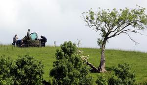 Security in fields near the Lough Erne resort in County Fermanagh the venue for next weeks G8 Summit. PRESS ASSOCIATION Photo. Picture date: Wednesday June 12, 2013. See PA story ULSTER G8. Photo credit should read: Paul Faith/PA Wire