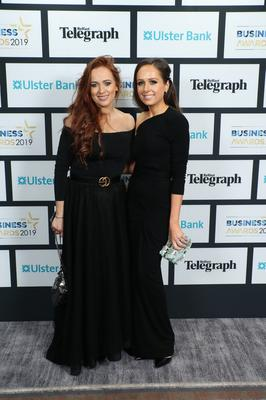 Press Eye - Belfast - Northern Ireland - 2nd May 2019 -   Jenny Clarke and Rachael Hetherington pictured at the Belfast Telegraph Business Awards in association with Ulster Bank at the Crowne Plaza Hotel, Belfast. Photo by Kelvin Boyes / Press Eye.