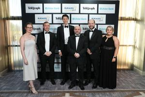 Press Eye - Belfast - Northern Ireland - 2nd May 2019 -   Staff from Wilson Nesbitt  pictured at the Belfast Telegraph Business Awards in association with Ulster Bank at the Crowne Plaza Hotel, Belfast. Photo by Kelvin Boyes / Press Eye.
