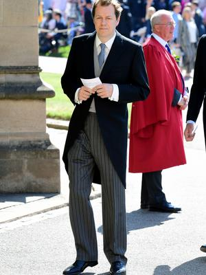 Tom Parker Bowles, son of the Duchess of Cornwall, heads to the chapel (Ian West/PA)