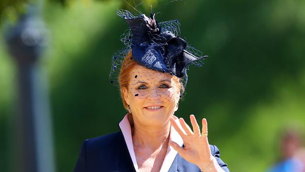 The Duchess of York waves to the camera (Gareth Fuller/PA)