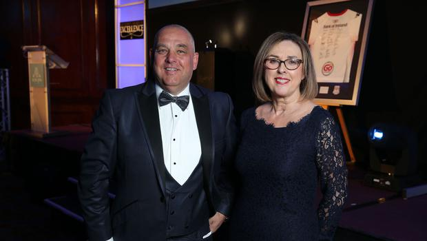 Colin Kennedy and Linda Brown at the Institute of Directors NI Annual Dinner at the Europa Hotel on Thursday night. Sponsored by Bank of Ireland and Arthur Cox, the event is the highlight of the local business calendar and was attended by over 250 people.  Picture by Kelvin Boyes / Press Eye.