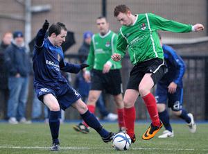 Action from a recent Donacloney (wearing green) fixture