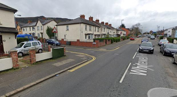 Whithella Road in Newtownabbey. Credit: Google
