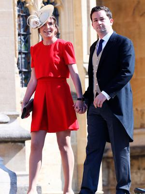 WINDSOR, ENGLAND - MAY 19:  Rebecca Deacon and Adam Priestley arrive at the wedding of Prince Harry to Ms Meghan Markle at St George's Chapel, Windsor Castle on May 19, 2018 in Windsor, England.  (Photo by Chris Jackson/Getty Images)