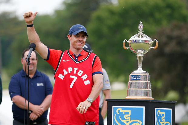 Rory McIlroy has declared his allegiance to the Toronto Raptors for the NBA finals but this week he's off to the US Open in California, whose Golden State Warriors are the opposition.
