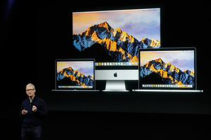 Apple CEO Tim Cook speaks about iMac and Macbook computers during an announcement of new products Thursday, Oct. 27, 2016, in Cupertino, Calif. (AP Photo/Marcio Jose Sanchez)