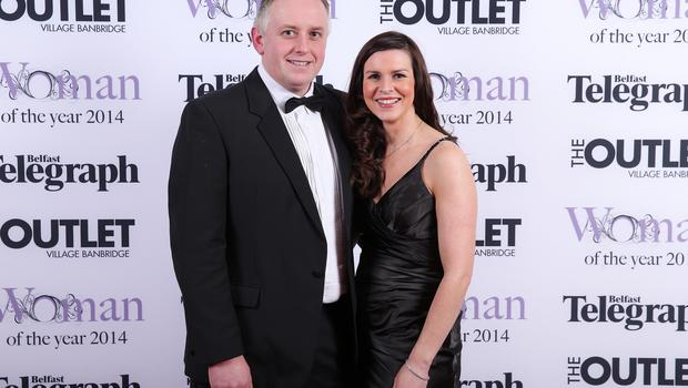 Richard Kane and Leona Kane at Belfast Telegraph Woman of the Year Awards in Association with THE OUTLET, Banbridge at the Ramada Hotel in Belfast