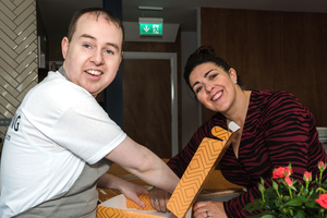 Ciaran McFadden (Loaf trainee) and Maeve Monaghan (NOW Group, CEO)