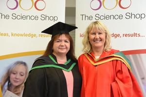 Graduating from Ulster University today is  Patricia Mc Guickan with supervisor Jill Hendron Pic by Harrison Photography