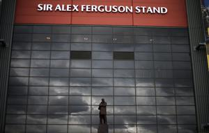 General view of Old Trafford on the day Sir Alex Ferguson announces his retires from management