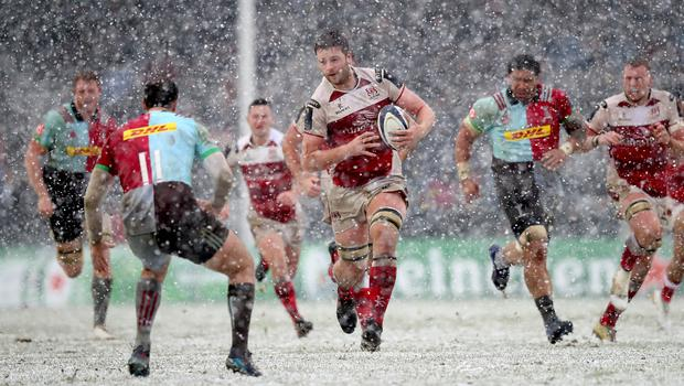 One of Jono Gibbes' most memorable moments from his time at Ulster, the European wins over Harlequins in the snow