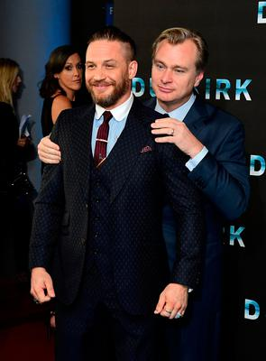 Tom Hardy (left) and Christopher Nolan (right) attending the Dunkirk world premiere at the Odeon Leicester Square, London. PRESS ASSOCIATION Photo. Picture date: Thursday July 13, 2017. See PA story SHOWBIZ Dunkirk. Photo credit should read: Ian West/PA Wire