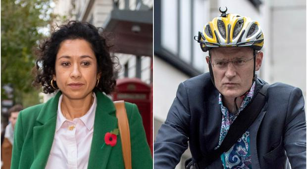 Samira Ahmed and Jeremy Vine (David Mirzoeff/Lauren Hurley/PA)