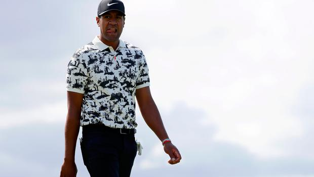 PORTRUSH, NORTHERN IRELAND - JULY 20: Tony Finau of the United States walks on the third hole during the third round of the 148th Open Championship held on the Dunluce Links at Royal Portrush Golf Club on July 20, 2019 in Portrush, United Kingdom. (Photo by Kevin C. Cox/Getty Images)