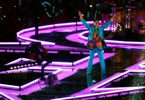 "FILE - 21 APRIL 2016: Musician Prince has reportedly Died at 57 on April 21, 2016. MIAMI GARDENS, FL - FEBRUARY 04:  Prince performs during the ""Pepsi Halftime Show"" at Super Bowl XLI between the Indianapolis Colts and the Chicago Bears on February 4, 2007 at Dolphin Stadium in Miami Gardens, Florida.  (Photo by Nick Laham/Getty Images)"