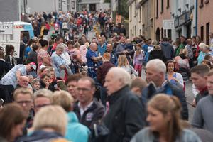 Some of the thousands of people who packed the streets of Donemana on the 12th of July 2019. Picture Martin McKeown. Inpresspics.com. 12.07.19