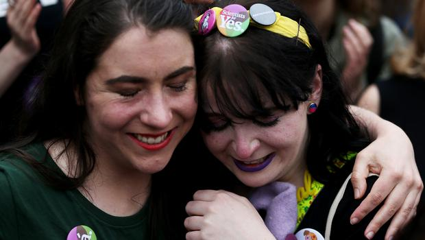 Emotions run high as the official results are announced (Brian Lawless/PA)
