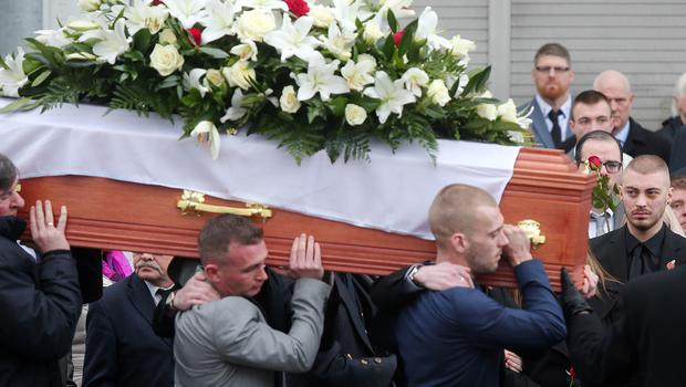 Funeral of murder victim Ian Ogle at Covenant Love Church on the Albertbridge Road in east Belfast.  The 45-year-old died after being assaulted by several people at Cluan Place area of east Belfast last week.