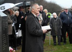 PACEMAKER BELFAST  15/01/2017  Rev Willie McCrea during A memorial service is held for the  25th Anniversary of the Teebane bombing outside Cooktown in Co Tyrone on Sunday.  Eight Protestant workmen died in January 1992 when the IRA blew up their minibus at Teebane crossroads, on the road between Omagh and Cookstown. Another six were injured. Photo Colm Lenaghan/Pacemaker Press