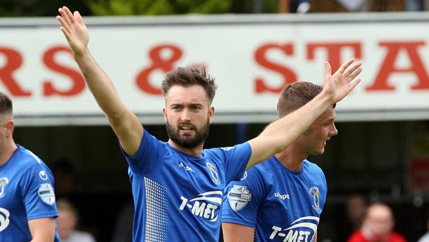 Mark Patton scored a screamer for Dungannon Swifts.