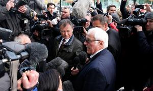 Trevor Hicks, whose daughters Sarah and Vicki died in the Hillsborough disaster, speaks to the media outside the Hillsborough Inquest in Warrington, where the inquest jury concluded that the 96 Liverpool fans who died in the Hillsborough disaster were unlawfully killed. PRESS ASSOCIATION Photo. Picture date: Tuesday April 26, 2016. See PA story INQUEST Hillsborough. Photo credit should read: Owen Humphreys/PA Wire