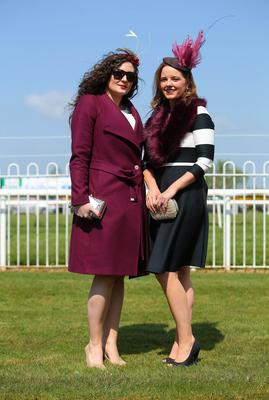 Press Eye - Belfast - Northern Ireland 1st May 2017 - Photo by Kelvin Boyes / Press Eye. Paula Gribbin and Nuala O'Connell pictured at the Daily Mirror May Day Meeting at Down Royal Racecourse
