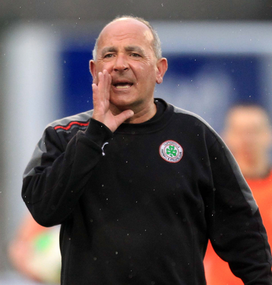 Familiar face: Tommy Breslin is back to help out Cliftonville. Photo: Darren Kidd /Presseye