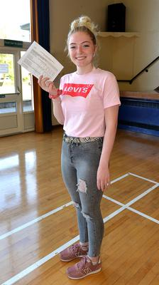 15th August 2019. Portadown College 'A' Level Results  Rachel Turner who achieved 3 grade B results.  Photo by Tony Hendron.