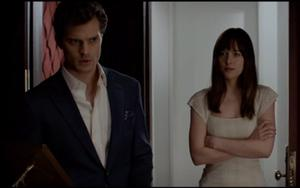 Dakota Johnson and Jamie Dornan in Fifty Shades of Grey. Photo: Focus Features