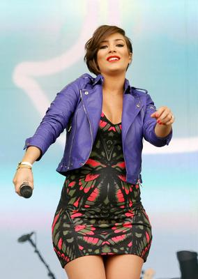 25.05.13. PICTURE BY DAVID FITZGERALD The 2nd day of the Radio 1 Big Weekend Festival in Londonderry-Derry yesterday. Frankie from the Saturdays who is currently pregnant with Wayne Bridge's baby performing