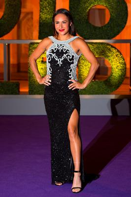 Heather Watson arriving at the Wimbledon Champions Dinner 2016, at the Guildhall, London. PRESS ASSOCIATION Photo. Picture date: Sunday July 10, 2016. Andy Murray claimed his second Wimbledon title after beating Milos Raonic in three sets. See PA story TENNIS Wimbledon. Photo credit should read: Dominic Lipinski/PA Wire