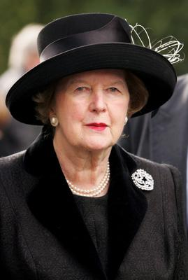 LONDON - 2005:  (FILE PHOTO)  Baroness Margaret Thatcher, 85, Britain's Prime Minister from 1979 to 1990, Reports on April 8, 2013 state that Baroness Thatcher has died following a stroke.. Please refer to the following profile on Getty Images Archival for further imagery.  http://www.gettyimages.com/Search/Search.aspx?EventId=108930459&EditorialProduct=Archival   Former leader of the Conservative party, Margaret Thatcher arrives at the Houses of Parliament on October 20, 2005 in London.  (Photo by Bruno Vincent/Getty Images)