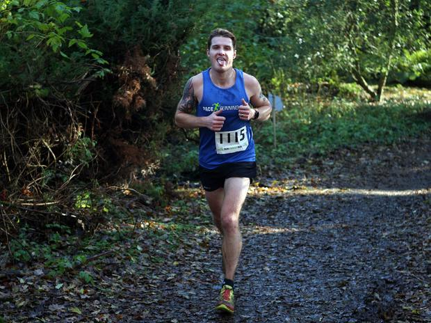 Mandatory Credit - Picture by Freddie Parkinson/Press Eye © Saturday 19th November 2016 Belfast Telegraph Run Forest Run Drum Manor Forest Park, Drum Road, Cookstown BT80 9RT Aaron Woodman finished 2nd in the mens 10K