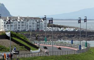 PACEMAKER, BELFAST, 15/5/2014: Supersport racers round Primrose bend during the final qualifying session for the Vauxhall International North West 200 today. PICTURE BY STEPHEN DAVISON