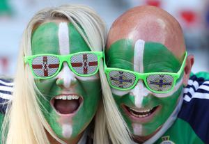 Northern Ireland fans during Sundays Euro 2016, Group C match against Poland at the Stade de Nice, France.