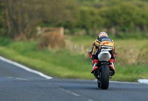 Pacemaker Belfast 28-4-17 North West 200 - Supertwin race Michael Rutter heads towards Coleraine during today's Supertwin race at the North West 200 in Co Londonderry.  Photo by David Maginnis/Pacemaker Press