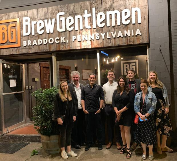 Visiting Brew Gentlemen brewery and taproom in Pittsburgh's Braddock suburb.