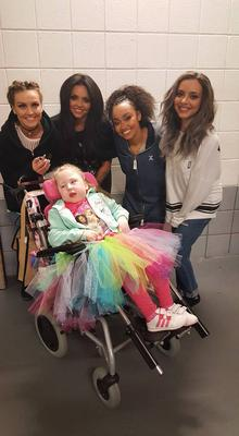 Cora meeting Little Mix at Belfast's SSE Arena.