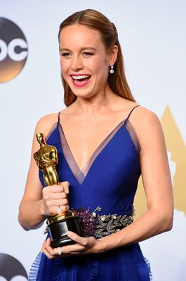 HOLLYWOOD, CA - FEBRUARY 28:  Actress Brie Larson, winner of the Best Actress award for 'Room,' poses in the press room during the 88th Annual Academy Awards at Loews Hollywood Hotel on February 28, 2016 in Hollywood, California.  (Photo by Jason Merritt/Getty Images)