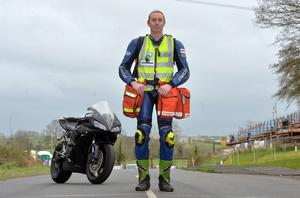 Doctor John Hinds at the Tandragee 100. Pic Stephen Davison